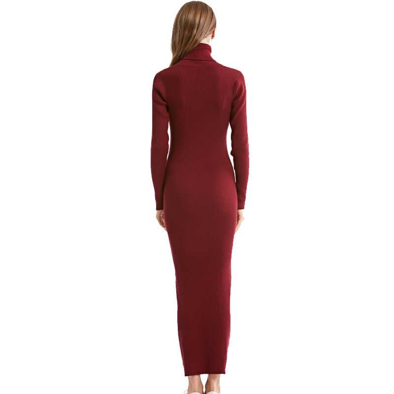 4c6c08ddf82 ... Новинка 2018 года Модные женские вечерние туфли пикантные вечерние  платье вязаный стиль водолазка с длинным рукавом ...