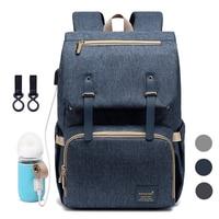 Bebek bezi Çantası Sırt Çantası Anne için 2019 USB Annelik Bebek Bakım Nappy Hemşirelik Çantaları Moda Seyahat bebek bezi sırt çantası Bebek Arabası için Kiti