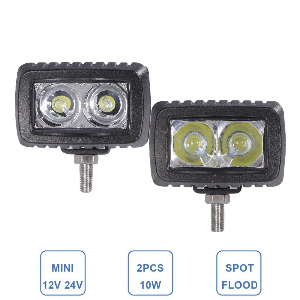 10W LED Kerja Cahaya 12V 24V Kereta SUV Auto ATV 4WD 4X4 Offroad - Lampu kereta