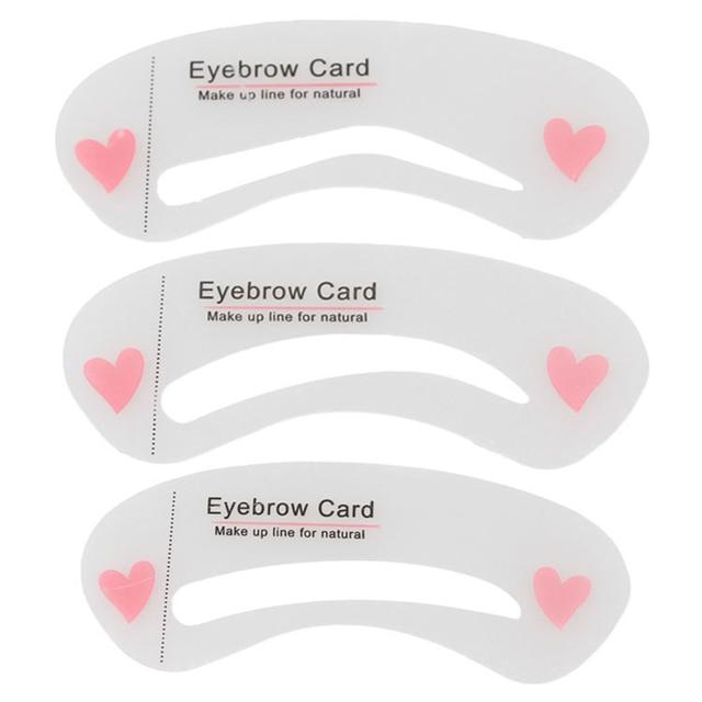 SHIDISHANGPIN 3 Pcs Eyebrow Stencils Eye Brow DIY Drawing Guide Styling Shaping Eyebrow Grooming Template Card Makeup Beauty Kit 1
