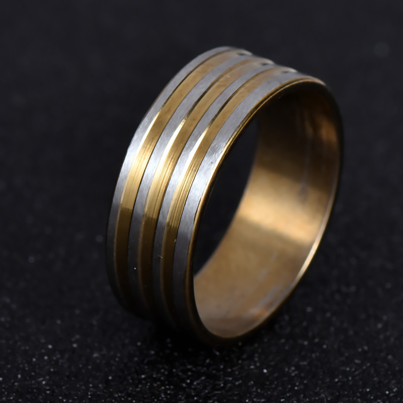 7 5mm Wide Fashion Men Tungsten Wedding Rings Jewelry Decent Carbide Gold Color 316l Stainless Steel Nj19 In From Accessories