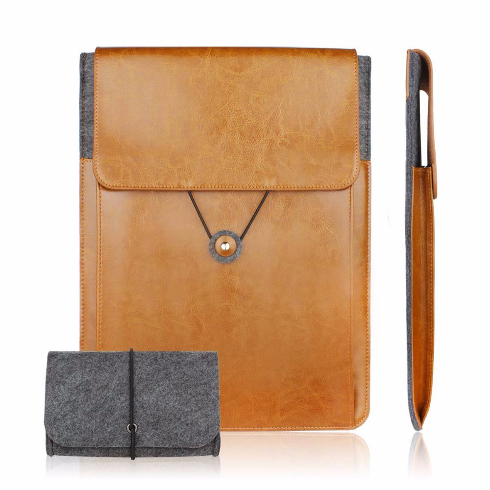 Genuine Leather Vintage Envelope Laptop Sleeve 11 6 13 3 15 6 inch for macbook Air
