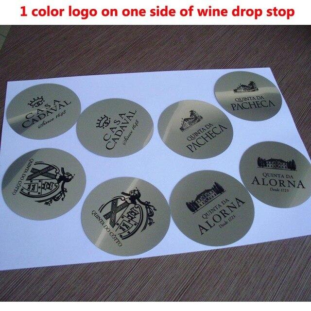 Set de Regalo de Promoción para Bar, Set de 1000 Uds con LOGO personalizado impreso en vertedor de vino, Set de vino