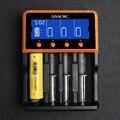 Cigarro eletrônico smok 4 slot de alta-velocidade intelligent charger li-ion/li-fepo4/ni-mh/ni-cd 18650 18350 26650 carregador de bateria