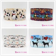 10 yards lot 7/8inch 22mm  dog printed grosgrain ribbon webbing for hairbows