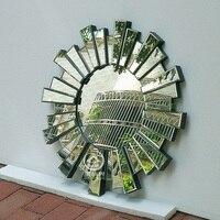 Moderne runde wandspiegel glas konsole spiegel venezianischen spiegel wand dekorative gespiegelt kunst M-F2094