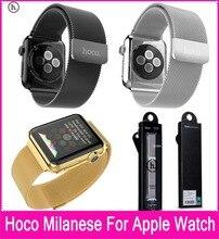 Hoco original de calidad superior 3 colores milanese lazo correas de reloj para apple watch 42mm 38mm ajustable con cierre magnético