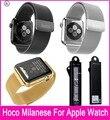 Top quality hoco original 3 cores milanese laço pulseiras de relógio para apple watch 42mm 38mm ajustável com fecho magnético