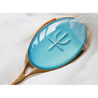 Anime Sailor Moon Kaiou Michiru Cosplay Mirrors Blue Crystal Neptune Zecter Makeup Cosmetic Mirror Comic Weapon Metal Props