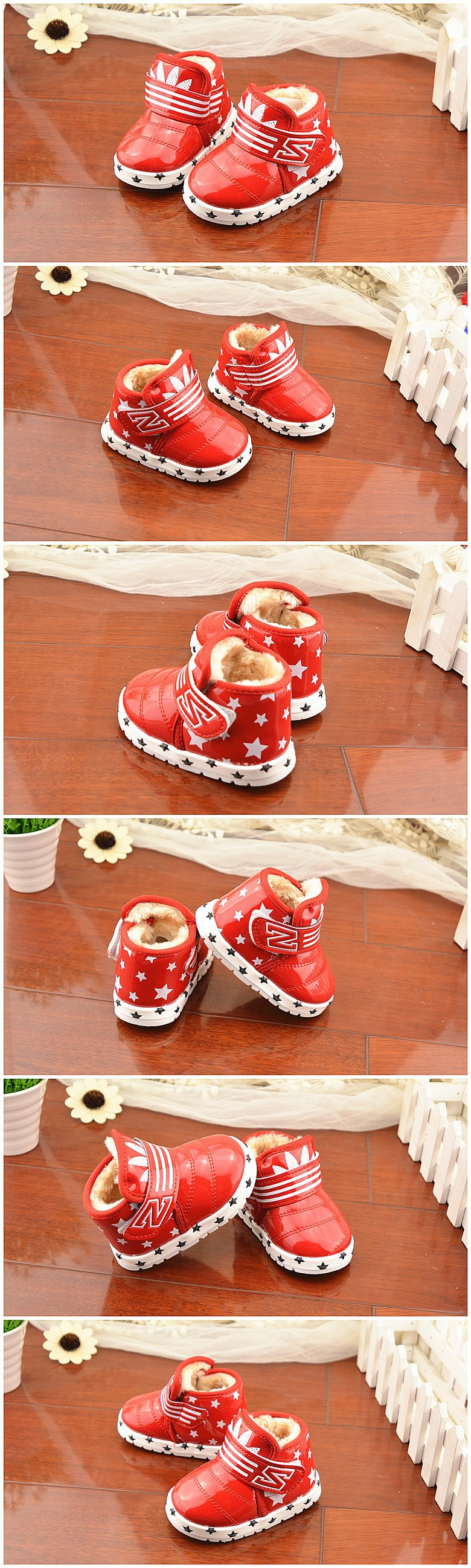 новый мода дети снег сапоги искусственная кожа свободного покроя дети плюшевые согреться загрузки зимняя обувь для мальчиков и девочек бесплатная доставка