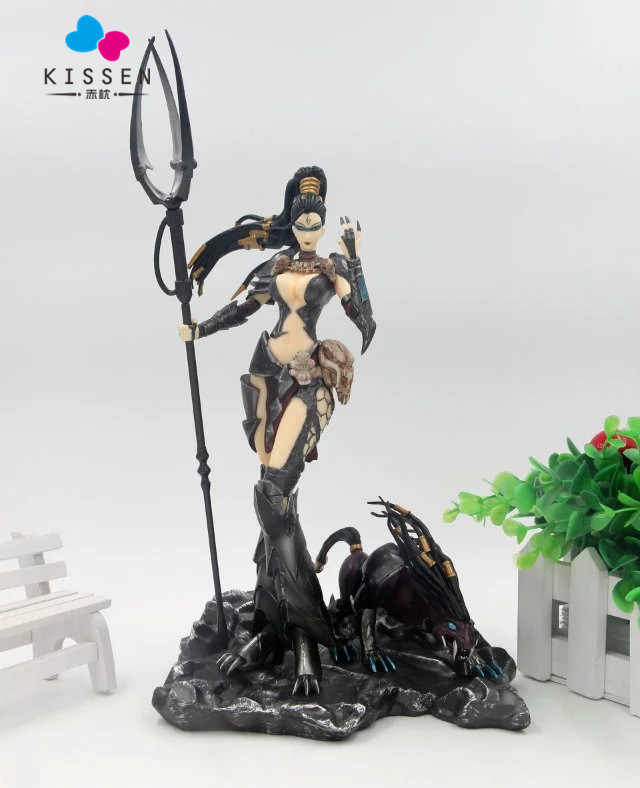 ФОТО Kissen Bestial Huntress Nidalee Action Figure 1/8 Scale Painted Figure Big Ver. Nidalee The Bestial Huntress