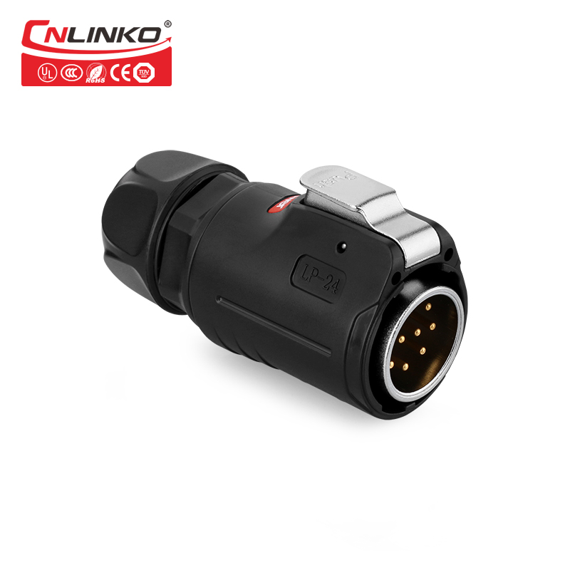 Image 2 - CNLINKO M24 PBT Plastic 10 12 19 24 Pin Outdoor Multi Core AC DC IP67 Waterproof Connector Power Signal Male Female Wire AdapterConnectors   -
