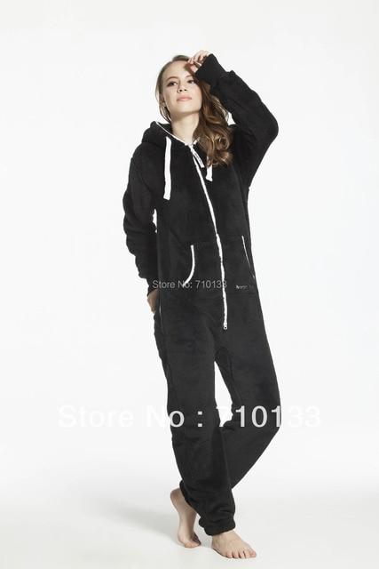 Euro Size Hooded Pajamas Women & Men Autumn & Winter 2014 Adult Warm Cotton Fleece Onesies Pyjama Pijamas Free Shipping