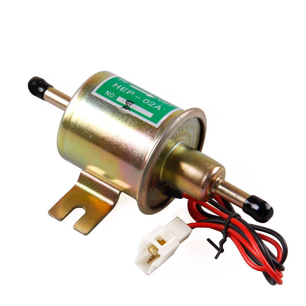 Universal Diesel Petrol Gasoline Electric Fuel Pump HEP-02A Low Pressure 12V electronic fuel pump hep 02a 12v 24v car modification gas diesel low pressure petrol for motorcycle toyota ford yanmar nissan