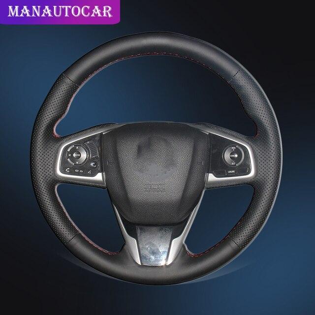 אוטומטי צמת על הגה כיסוי עבור הונדה סיוויק 10 2016 2017 CRV CR V 2017 פנים יד תפירת רכב הגה כיסוי