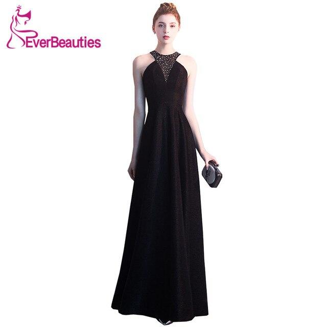 Black Evening Dresses Long 2019 Sequins Formal Dress Women Elegant Robe De  Soiree Evening Gown For Women Abendkleider b3f6d0ca87a3