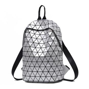 4d8814c21dfc Product Offer. Матовый школьный рюкзак для девочек подростков Mochila  Feminina для женщин рюкзаки путешествия световой геометрический  повседневное Bagpack ...