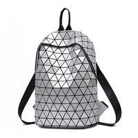 Matte School Backpack for Teenage Girl Mochila Feminina Women Backpacks Travel Luminous Geometric Casual Bagpack Female 2019