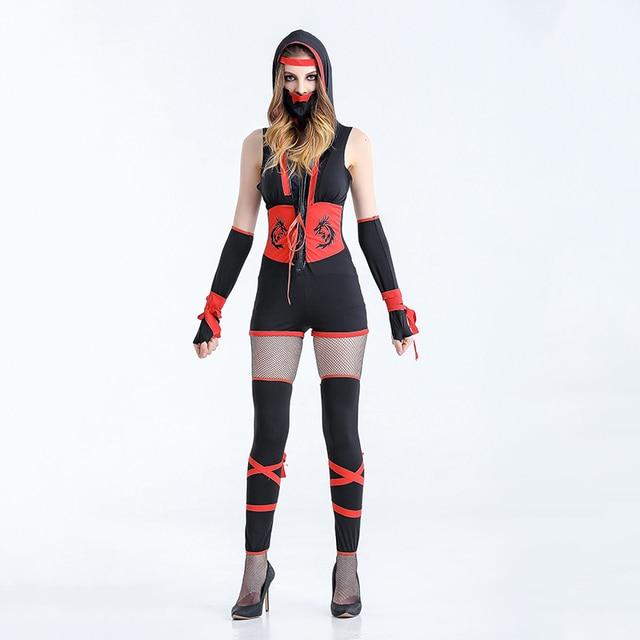 classic halloween costumes cosplay ninja costumes women fantasia martial ninja grim reaper halloween costume stage suit