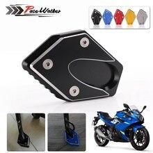 CNC мотоциклетные CL боковая подставка подножка удар расширение ножная пластина Накладка для Suzuki GW250 Inazuma GSX250 GSX250R DL250