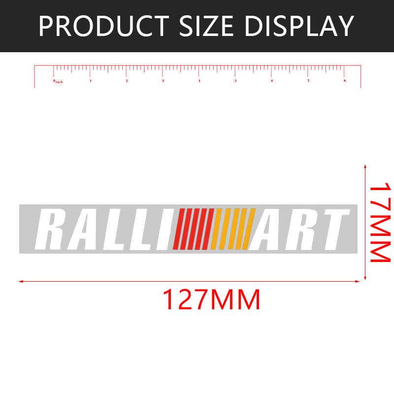 Adhesivo de manija para puerta de coche RALLI ART de 4 uds, calcomanía deportiva para mitsubishi lancer asx outlander pajero galant, accesorios