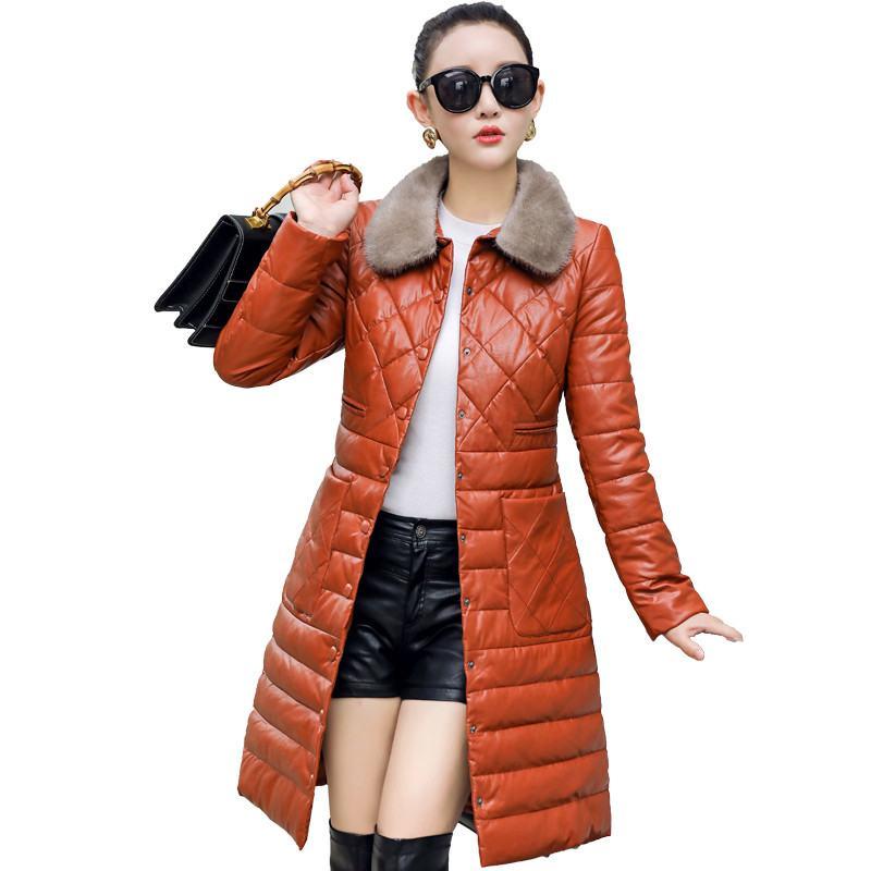 100% Wahr Plus Größe 5xl 2019 Winter Frauen Warme Dicke Ente Unten Lange Jacke Parkas Weiblichen Natürlichen Fuchs Pelz Echtem Leder Mantel Mantel W35 Diversifiziert In Der Verpackung