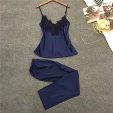 New Fashion Lady Women Sexy Pajama Sets Lingerie Women Silk Lace Robe Babydoll Tank Top Vest
