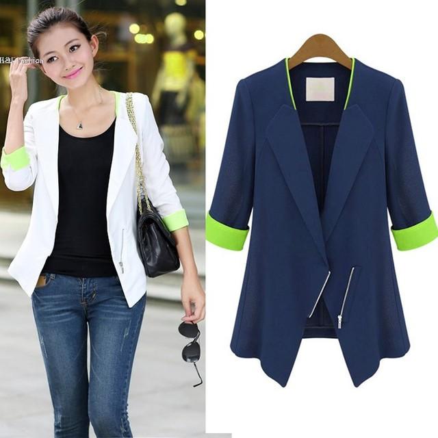 58c28e4104e8 Mode-Femmes-OL-Bureau-Slim-Demi-Manches-Manteau-Veste-Costumes -Blazers-Top-S-M-L-XL.jpg 640x640.jpg