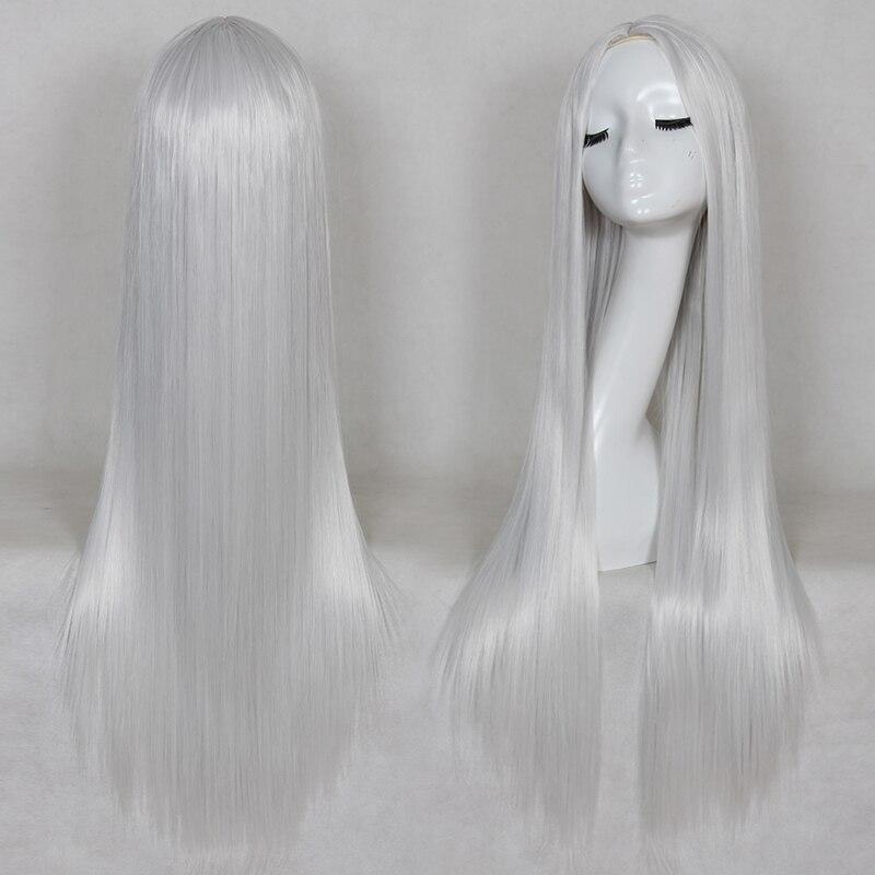 Bchr 80 см Длинные прямые Косплей термостойкие синтетический парик для обувь для мужчин и женщин с 4 цвета точки в парик