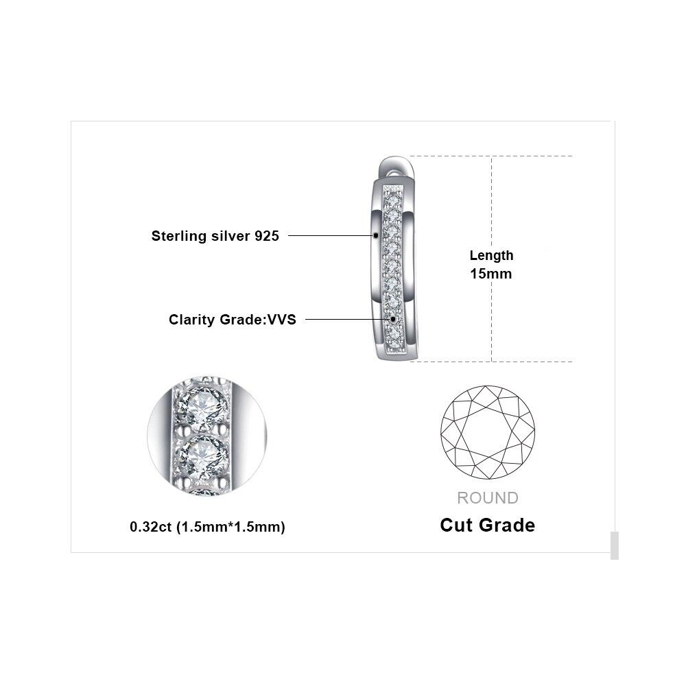 Sterling Silver Earrings Anniversary Channel Eternity Earrings New Fine Jewelry Gift For Girlfriend 2018 Hot 4