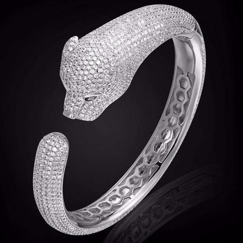 Ashiana Trendy White Snake Print Gold Kada with Rhinestones Free Size
