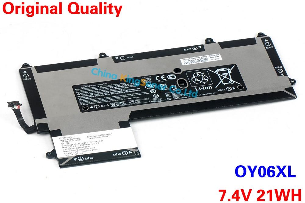 ФОТО KingSener Original New Laptop Battery OY06XL for HP Ultrabook HSTNN-DB6A 750335-2B1 7.4V 21WH Free 2 Years Warranty