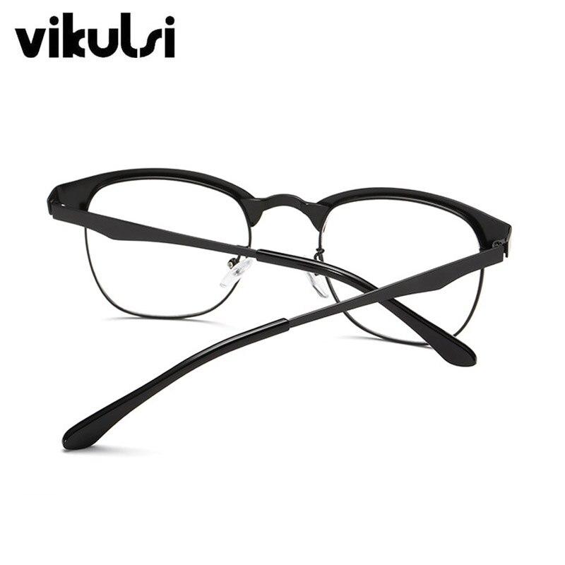 Gefälschte Runde Klar Brille Halb Rahmen Brillen Transparente Gläser ...