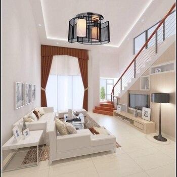 LukLoy черный/белый современный светодиодный потолочный светильник стеклянный светильник для чтения потолочный светильник для спальни столо...