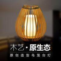 desk lamp Decorative lighting wooden lamp Small night light The bedroom the head of a bed lamp Chinese teahouse lamp