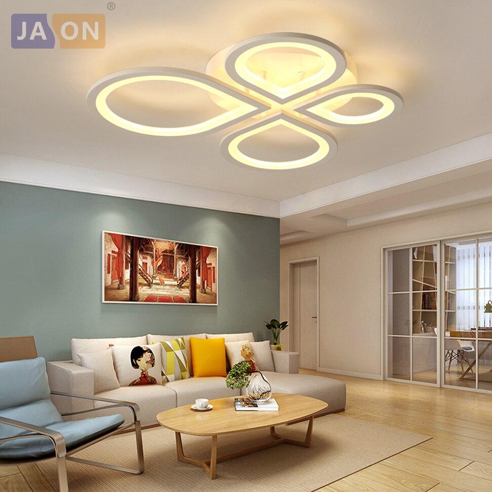 Ceiling Lights & Fans Led Modern Iron Acryl 4 Leaves Led Lamp.led Light.ceiling Lights.led Ceiling Light Ceiling Lamp For Bedroom Ceiling Lights
