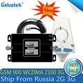 Lintratek Rusia 2G GSM 900 3G 2100 celular repetidor de señal de teléfono celular de refuerzo GSM WCDMA UMTS 2100 2G 3G 4G señal de antena