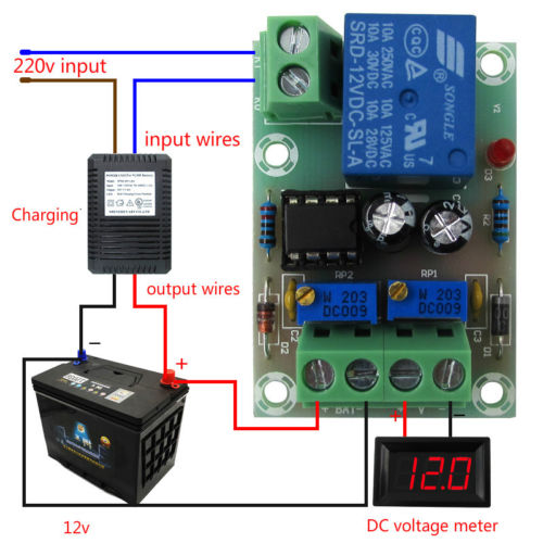 12v Automatic Battery Charging Power Supply Control