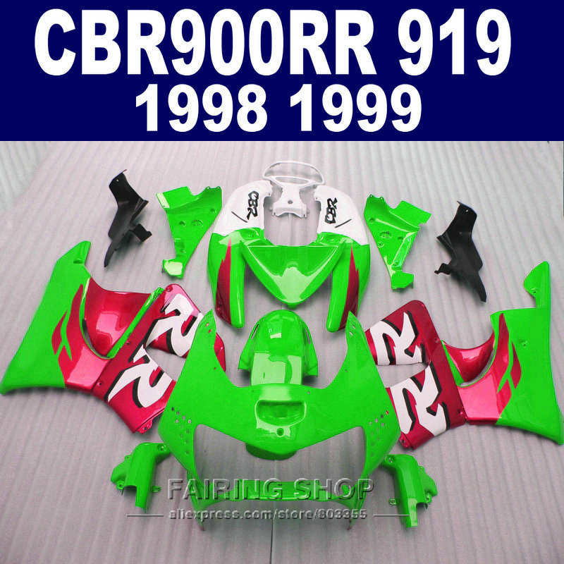 Green red For Honda Cbr900rr Fairings 919 1999 1998 free EMS Fairing kit cbr900rr919 98 99