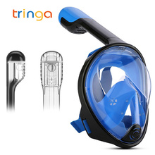 Diving Mask New Underwater Swimming Snorkel Mask Full Face Anti Fog Scuba Set for Gopro Camera with Sport Cooling Towel