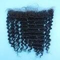 8A Free Parte Onda Profunda Lace Frontal Encerramento 13x2 Virgem Humano cabelo Onda Profunda Fechamento Frontal Com o Cabelo Do Bebê Cheia Do Laço Frontais