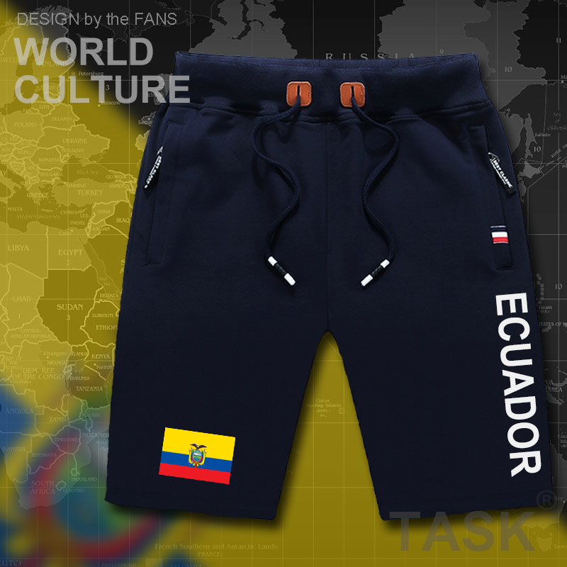 Ecuador Ecuadorian Mens Shorts Beach Man Men's Board Shorts Flag Workout Zipper Pocket Sweat Bodybuilding 2017 Cotton Brand ECU
