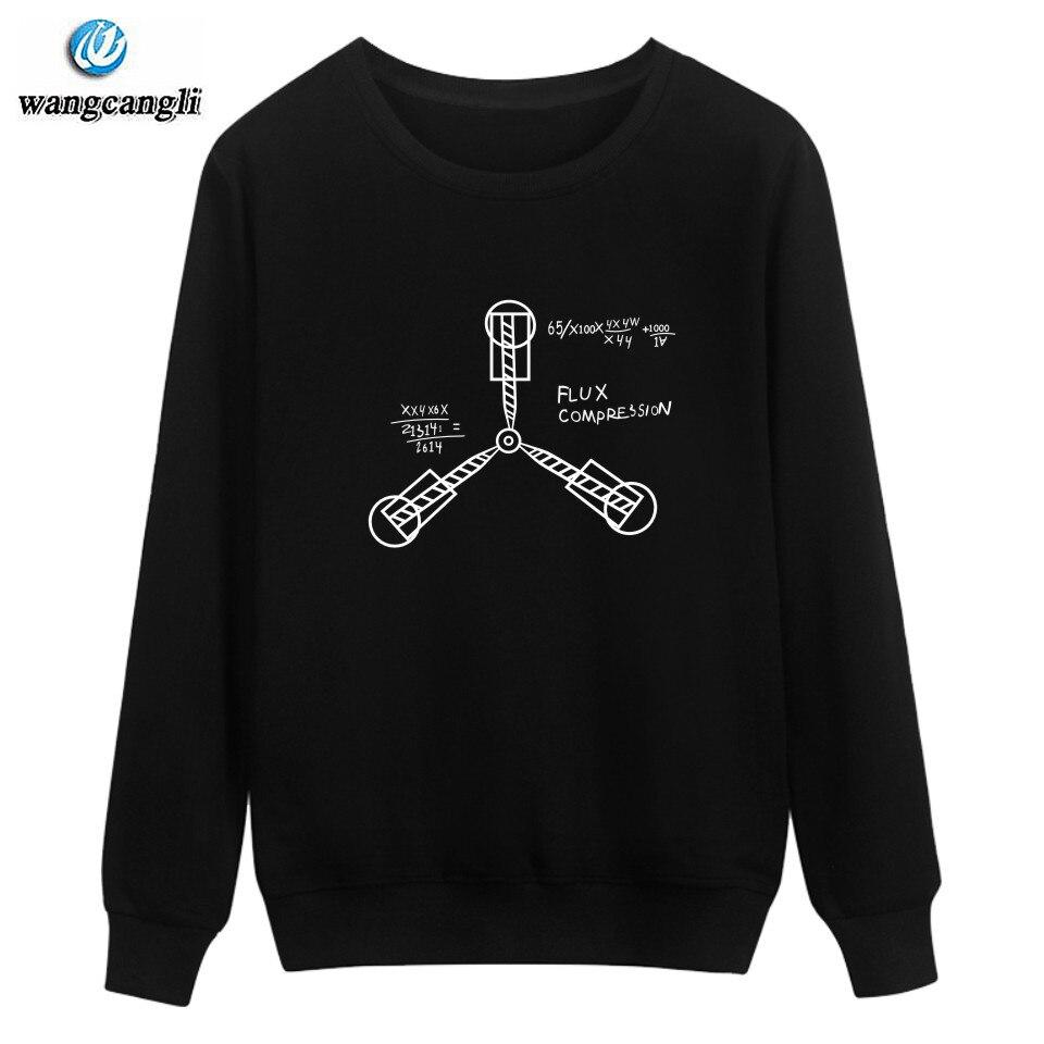 Back to the Future Harajuku Sweatshirt Hoodies Street Wear High Quality Winter movie Capless Men Hoodie and Tracksuit plus size