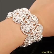 elegant Bridal crystal rhinestone bracelet wedding jewellry accessories sp-t-212