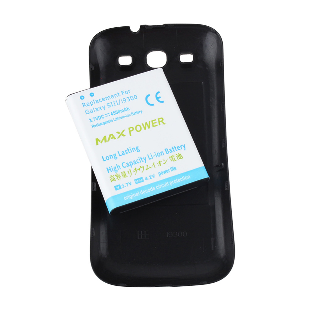 New Rechargeable Extended Backup Thick 4500mAh Battery For Samsung Galaxy S3 SIII I9300 Replacement Battery with Back CoverNew Rechargeable Extended Backup Thick 4500mAh Battery For Samsung Galaxy S3 SIII I9300 Replacement Battery with Back Cover
