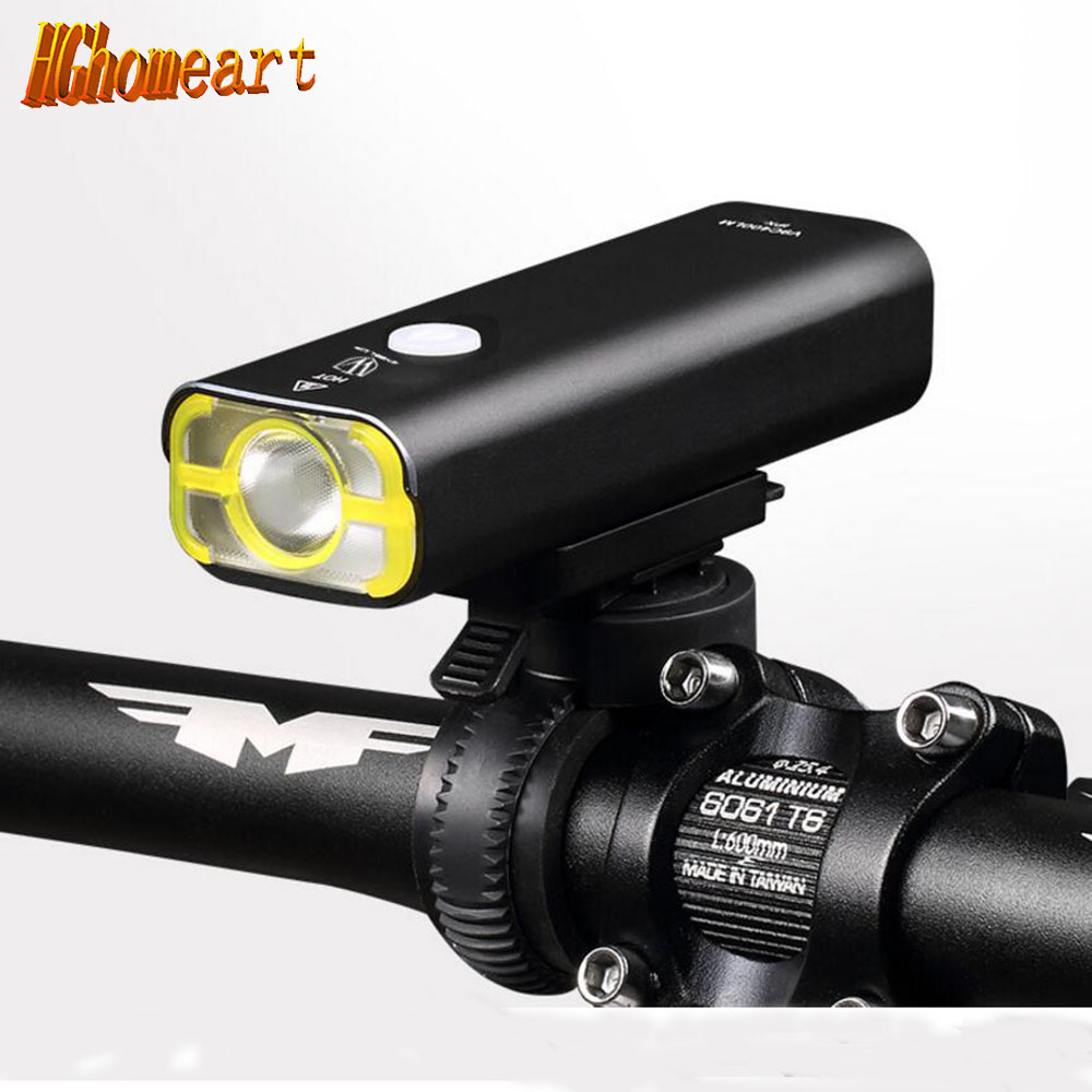HGhomeat 400lm LED bicycle lamp Front Light flashlight 2500mAH USB Rechargeable  Bike Cycling Handlebar Lighting Head Lantern cm 052535 3 7v 400 mah для видеорегистратора купить