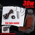 2 juegos de Alta Calidad Con Calefacción Cojines Del Asiento Universal de Fibra de Carbono de Asiento Con Calefacción calentador Pad Kit 2 Dial Interruptor de $ Number Niveles para el Asiento de Auto Cubre