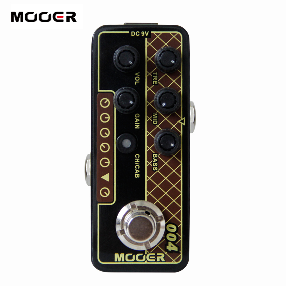 MOOER 004 Day Tripper Digital Preamp electric guitar pedal High quality dual channel preamp Independent 3 band EQ mooer 001 gas station digital preamp electric guitar pedal high quality dual channel preamp independent 3 band eq