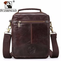 FUZHINIAO Handbags Men's Small Bag Brand Design Male Genuine Leather Messenger Bags 2018 New Promotion Men Travel Shoulder Bags