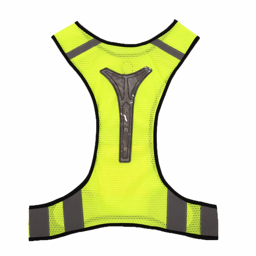 giantree LED Reflective Vest Jacket for Night Outdoor sports safety Cycling Breathable High Visibility reflective material